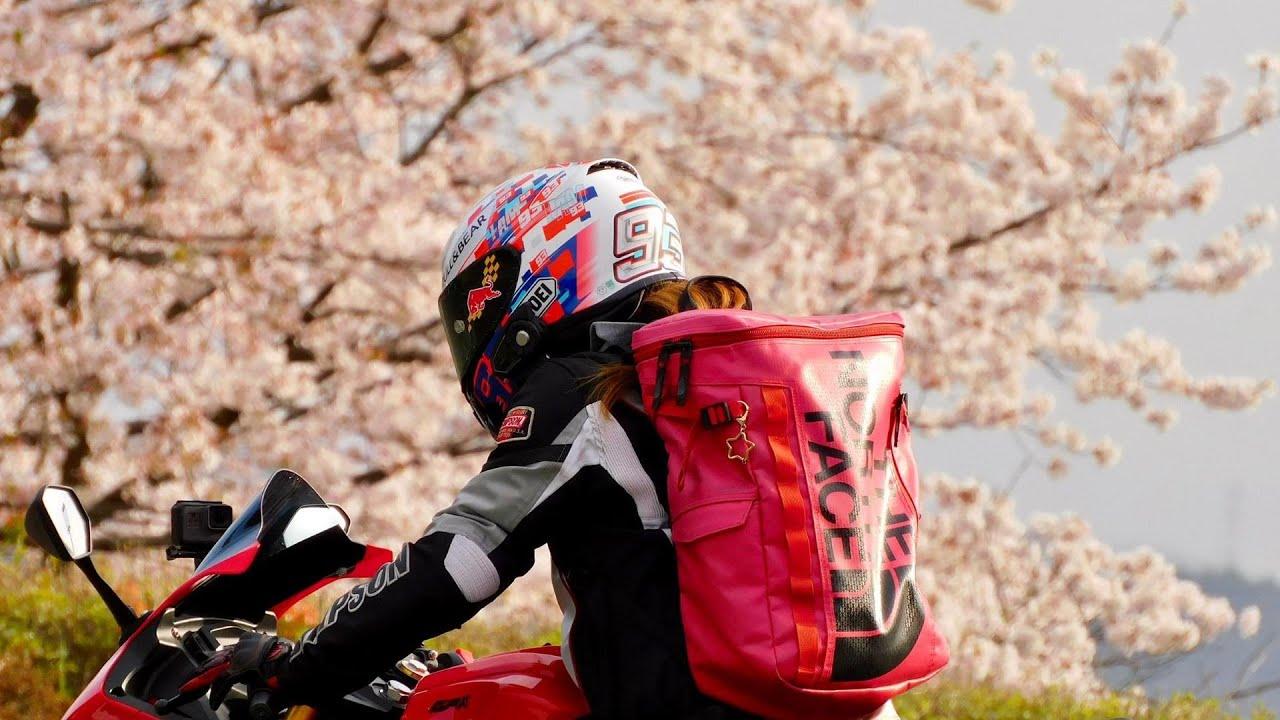 桜吹雪の中を走る/ ホーネット250DX・CRF250L・DEMON150GR【モトブログ】