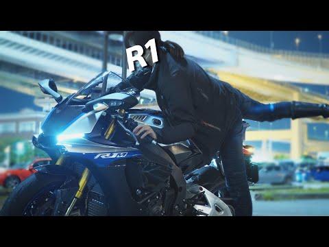 【R1M女子】初めての大黒、ハイウェイ、うるさい私。《クロスプレーン》《バイク女子》| YAMAHA YZF-R1M AKRAPOVIC Sound