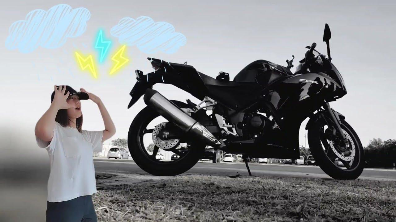 【ガチで台風2時間前】バイク受け取ったよ!【モトブログ】【バイク女子】