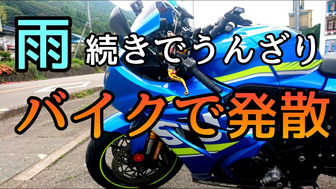 モトブログ #0223 雨続きで限界!バイクでストレス発散【GSX-R1000R】